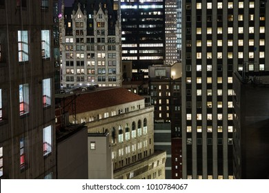 Layers of buildings in New York City.