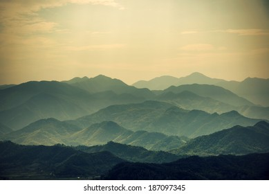 Layers of Chinese Mountains