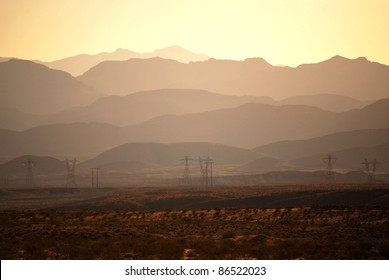 Layers of desert mountains
