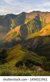 Layers of hills, Munnar Hill Top, Beautiful mountain landscape, located in Munnar, Kerala, India