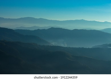 Layers of mountains in the Philippines