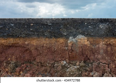 The layers of road with sky and cloud. Un-focus image