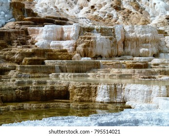 Layers of salts - Yellowstone National Park