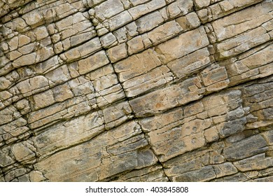 Layers of schist found in the rocks of Maghera beach near Ardara in Ireland.