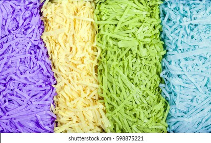 Layers of shredded paper vertical background