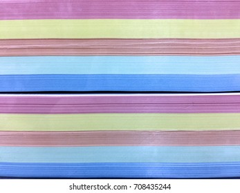 Layers of Stacked Color Papers