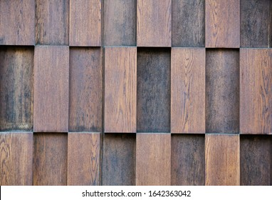 layers of wood plank wall - Shutterstock ID 1642363042
