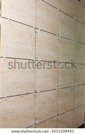 Laying Ceramic Tiles Special Tile Adhesive Stock Photo Edit Now
