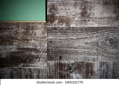 Laying laminate flooring. Laminate and substrate green.