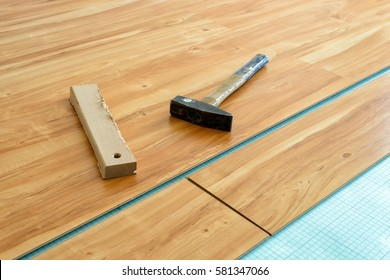 Laying of parquet floor