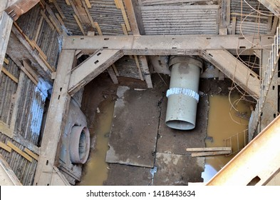 Laying or replacement of underground storm sewer pipes. Installation of water main, sanitary sewer, and storm drain systems. Utility Infrastructure - Image