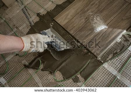 Laying Tile Glazed Tile Stylized Tree Stock Photo Edit Now