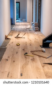 Laying a wooden floor in a new home
