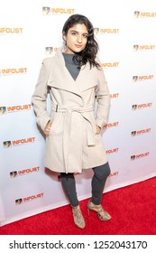 Layla Dideban attends INFOList.com Red Carpet Re-Launch Party & Holiday Extravaganza! at SKYBAR at the Mondrian Hotel, Los Angeles, California on December 5th, 2018