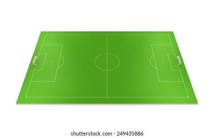 Layout football field isolated on white background.
