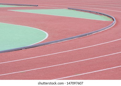 Layout and inside fence of different zones athletics stadium