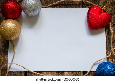 the layout for the letter to Santa Claus or a list of gifts with Christmas toys