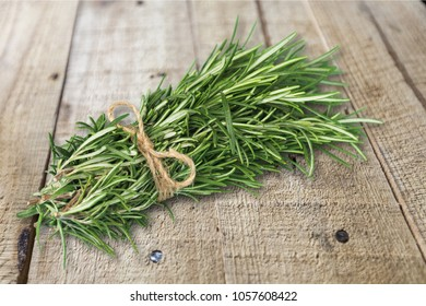 Layout made of thyme and rosemary