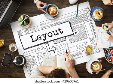 Layout Template Website Design Web Concept