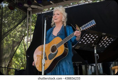 Laytonville, CA/USA - 6/27/2015 : Judy Collins performs at the Kate Wolf Music Festival in Laytonville, CA.  Collins is a Grammy Award winner, Academy Award nominee, Honorary Doctorate.