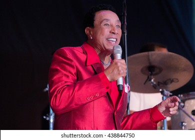 Laytonville, CA/USA - 6/27/2015 : Smokey Robinson performs at the Kate Wolf Music Festival in Laytonville, CA.  Robinson is a Grammy Award winner and Rock and Roll Hall of Fame inductee.