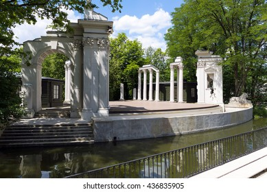 Lazienki park - Royal Baths Park in Warsaw