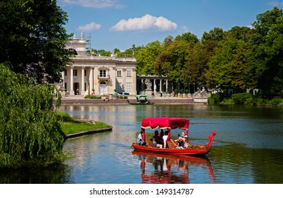 Lazienki or Royal Baths park in Warsaw in Poland