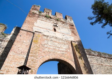 Lazise is a medieval village at Garda lake Brescia Lombardy Italy