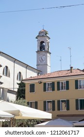 LAZISE VENETO ITALY ON APRIL 30, 2018: 2018:Lazise is a medieval village at Garda lake  Lombardy Italy