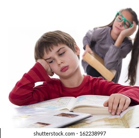 lazy pupils, books can be very boring