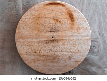 A lazy Susan is a turntable (rotating tray) placed on a table or countertop to aid in distributing food.
