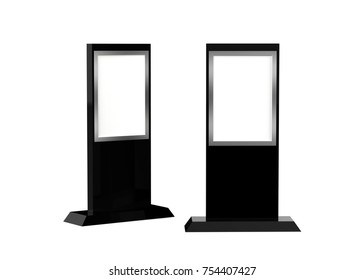 Lcd display stand, Banner Stand Media Display Signage Mock up Template, 3D Illustration