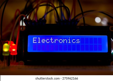 lcd display with text
