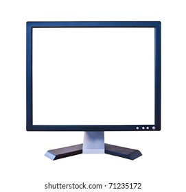 LCD Monitor with blank screen isolated