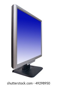 LCD monitor. Isolated on white background with clipping path