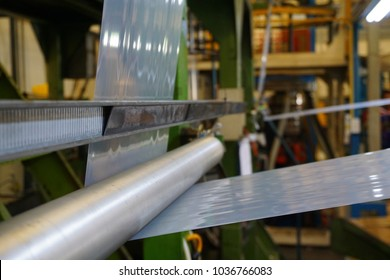 LDPE Plastic film winding through stainless idler roll