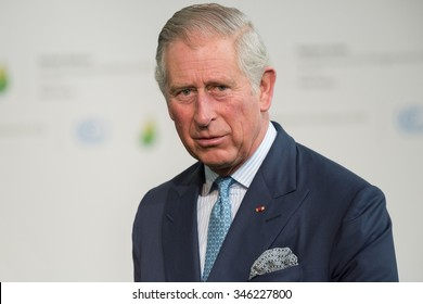 LE BOURGET near PARIS, FRANCE - NOVEMBER 30, 2015 : The prince of wales at the Paris COP21, United nations conference on climate change.