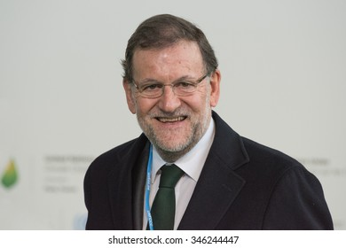 LE BOURGET near PARIS, FRANCE - NOVEMBER 30, 2015 : Prime Minister of Spain Mariano Rajoy at the Paris COP21, United nations conference on climate change.