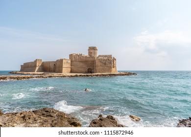 Le Castella, ancient castle on the sea in Calabria, Italy