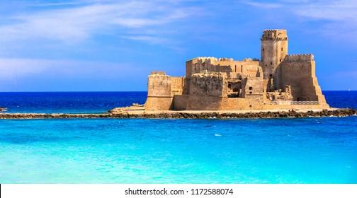 Le Castella .Isola di Capo Rizzuto - fantastic place with castle in the sea. Calabria, Italy