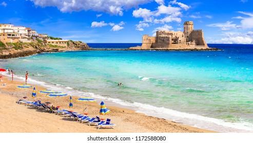 Le Castella .Isola di Capo Rizzuto - beaches and castles of Calabria, south of Italy