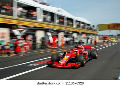 Le Castellet, France. 23/06/2018. Grand Prix of France. F1 World Championship 2018. Sebastian Vettel, Ferrari.