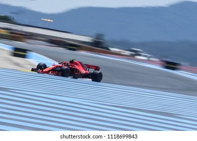 Le Castellet, France. 23/06/2018. Grand Prix of France. F1 World Championship 2018. Kimi Raikkonen, Ferrari.