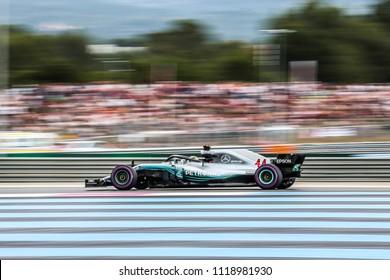 Le Castellet, France. 23/06/2018. Qualifying of Grand Prix of France. F1 World Championship 2018. Lewis Hamilton, Mercedes, poleman.