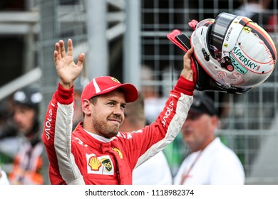 Le Castellet, France. 23/06/2018. Qualifying of Grand Prix of France. F1 World Championship 2018. Sebastian Vettel, Ferrari.