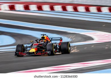 Le Castellet, France. 23/06/2018. Qualifying of Grand Prix of France. F1 World Championship 2018. Daniel Ricciardo, Red Bull.