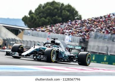 Le Castellet, France. 23/06/2018. Qualifying of Grand Prix of France. F1 World Championship 2018. Lewis Hamilton, Mercedes, Grand Prix winner.
