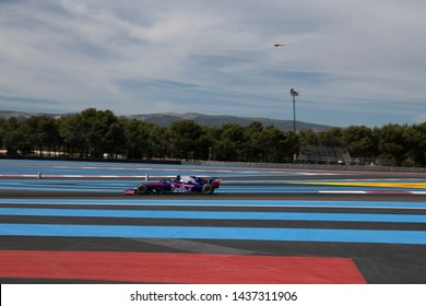 LE CASTELLET, FRANCE - JUNE 23, 2019: Alexander Albon, Thailand competes for Red Bull Toro Rosso Honda in the Formula 1 French Grand Prix.