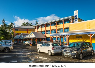 Le Gosier, Guadeloupe - December 22, 2016: Karaibes Hotel in Gosier, Guadeloupe, an overseas region of France, Caribbean. Ideally located in the center of Guadeloupe, in the seaside area of Gosier.
