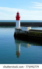 Le Guilvinec lighthouse in Brittany coast